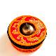 ティンシャケース 布製ソフトケース【レッド×オレンジ】/ネパール神具/ティンシャ 【レターパックライト利用可】