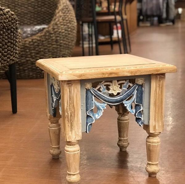 木彫り レリーフ/飾り台 ディスプレイ台/サイドテーブル/コーヒーテーブル/ナイトテーブル/バリ雑貨