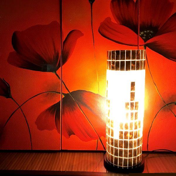 カピスシェルランプ/テーブルランプ/間接照明/アジアンランプ/コード付き