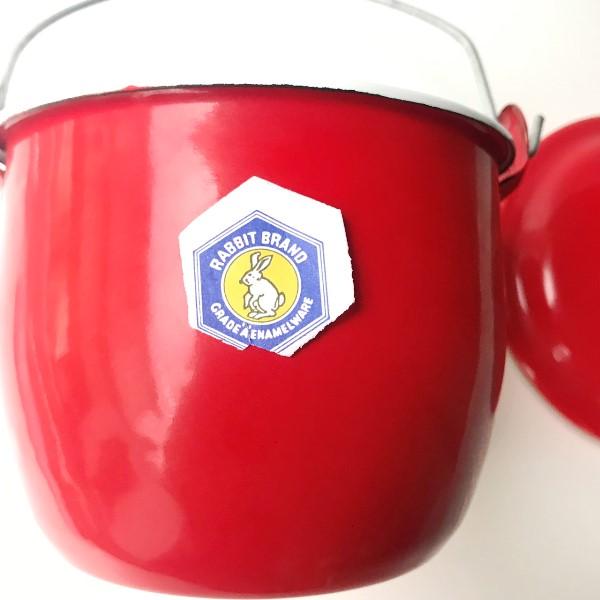 ホーロー鍋/琺瑯鍋/蓋付き鍋/バケツ型琺瑯鍋