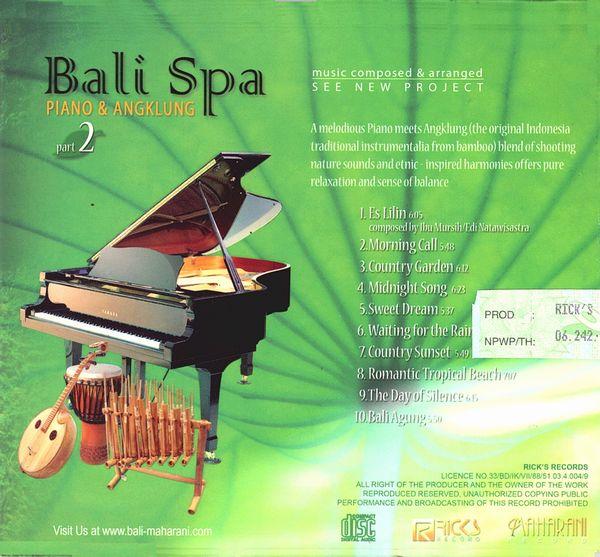 CD【Bali Spa 2/PIANO & ANGKLUNG】バリ ヒーリングCD/ガムランミュージック/バリ島CD【レターパックOK】