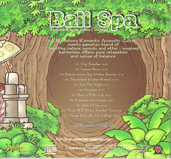 CD【Bali Spa 4/Guitar & Gamelan】バリ スパ/バリ ヒーリングCD/ガムランミュージック/バリ島CD【レターパックOK】