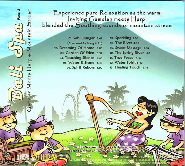 CD【Bali Spa 5/Gamelan Meets Harp & Mountain Stream】バリ スパ/バリ ヒーリングCD/ガムランミュージック/バリ島CD【レターパックOK】