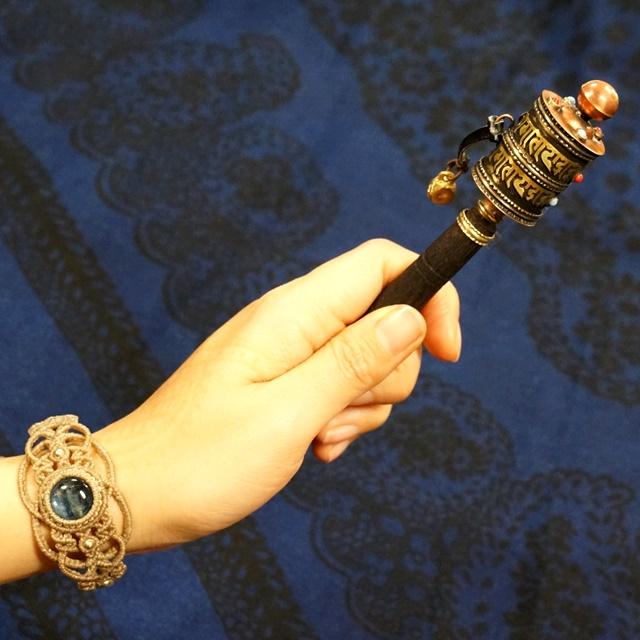 マニ車・手持ち・スティックタイプ【レターパックライト利用できます】チベット仏教/チベット密教法具/ネパール雑貨