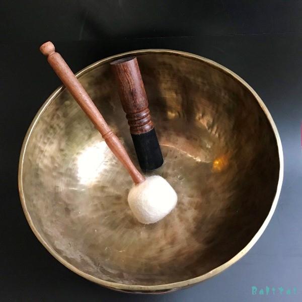 フルムーンシンギングボール【Φ33cm】【E】サンタ・ラトナ・シャキア工房