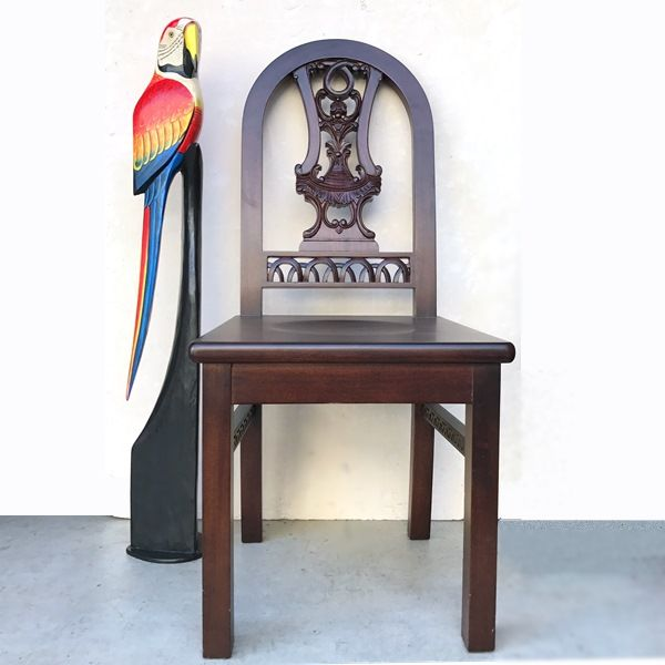 木彫りインコ/スタンド型/南国鳥【100cm】