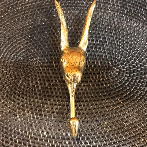 クリンチ(ウサギ)のフック 【ゴールド】 真鍮製 壁掛けフック