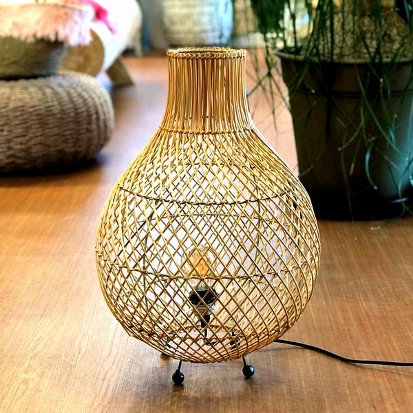 バンブー/フロアライト/陰影が美しい竹のランプ/コード別売り