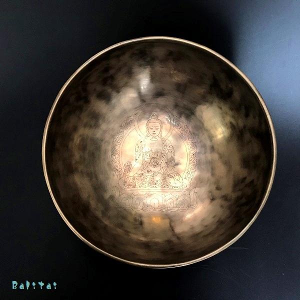 フルムーンシンギングボール【Φ23.5cm】【C】収納ソフトケースつき/サンタ・ラトナ・シャキア工房