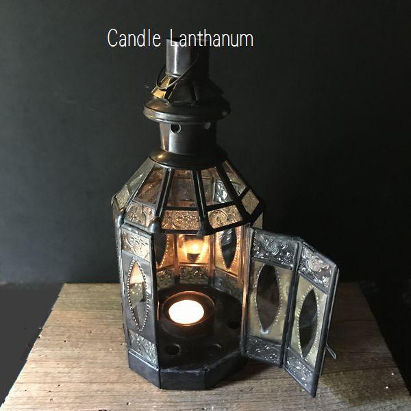 モロッコ風のガラスランタン/キャンドルランタン/モロッコランプ