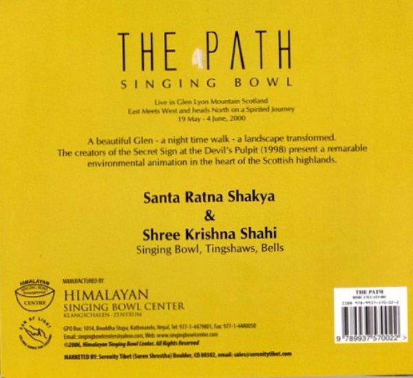 CD/【THE PATH】シンギングボールのCD//Santa Ratna Shakya&Shree Krishna Shahi/ヒマラヤンシンギングボールセンター監修