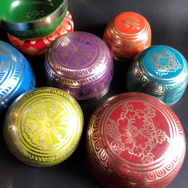 シンギングボウル【7個セット】チャクラに合わせた7個セット/シンギングボール・真鍮・機械製