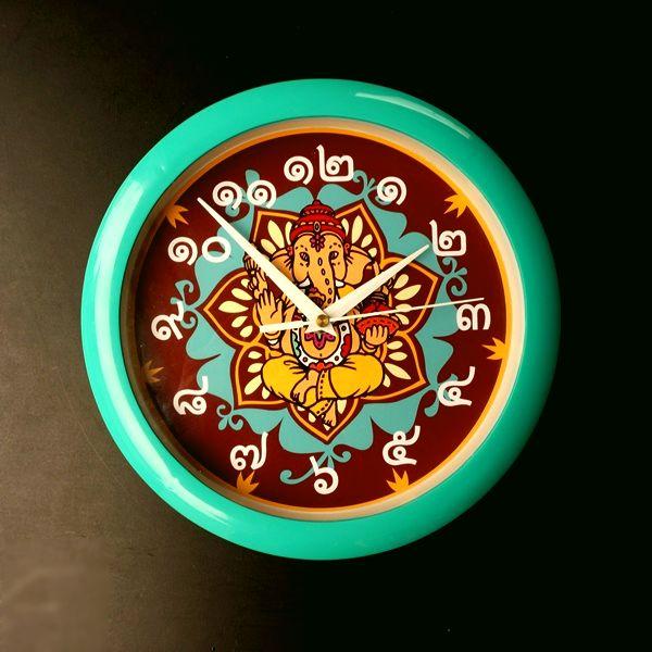 掛け時計/ガネーシャ/タイ文字/アジアンインテリア
