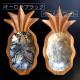 パールシェル パイナップル小物入れ【オーロラブラック】【パールホワイト】/シェルのトレイ/30.5cm