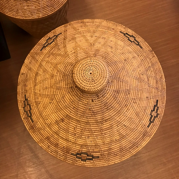 アタ ランドリーボックス/蓋つき/アタバスケット/アジアンインテリア収納 【H58cm】