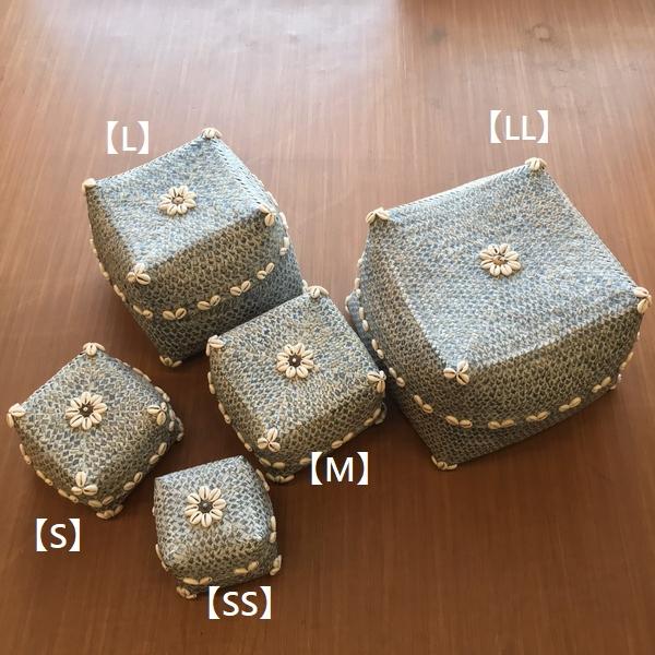 ソカシ/バンブー&シェルのソカシ/蓋つきかご/バリ雑貨