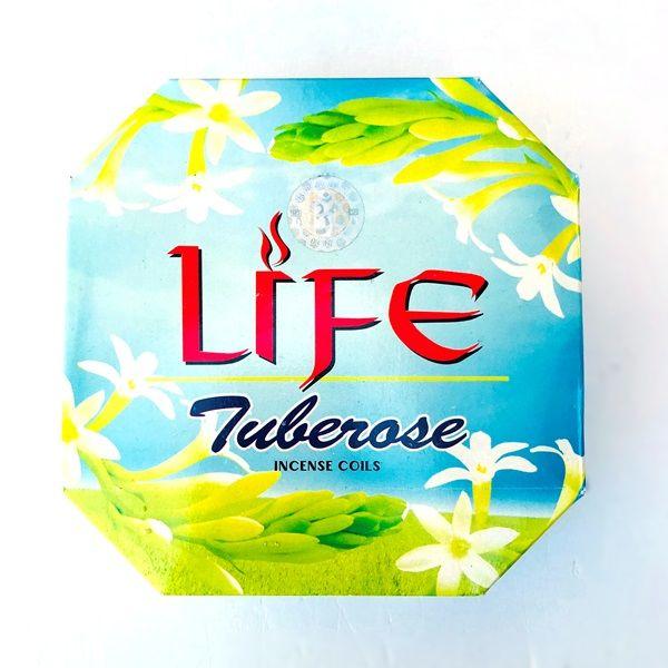 お香 チューブローズ LIFE/TUBEROSE チューブローズ【月下香】渦巻き香