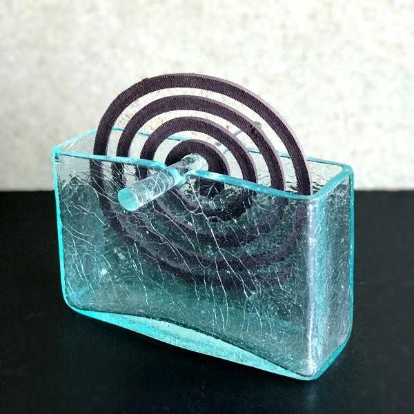 お香立て/蚊取り線香ホルダー/ガラスのお香立て