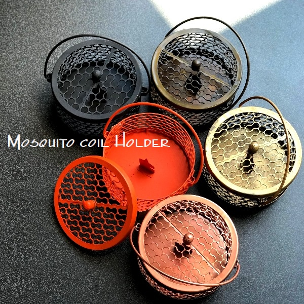 蚊取り線香ホルダー/アイアンお香立て【ピーナッツ】【ブラック】
