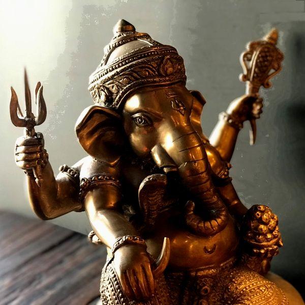 ガネーシャ像 富と商売と学問の神様/ヒンドゥー教の神様/【H32cm】