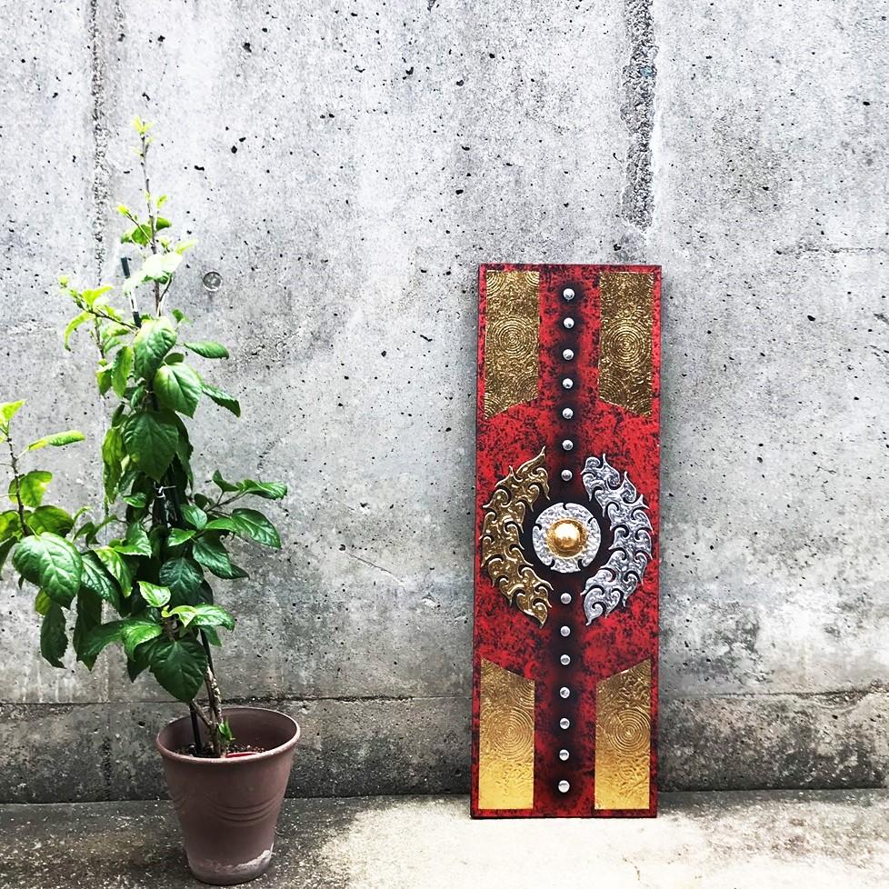 モダンアート/ゴールドカラー/アートパネル/タイ絵画/ホームデコ
