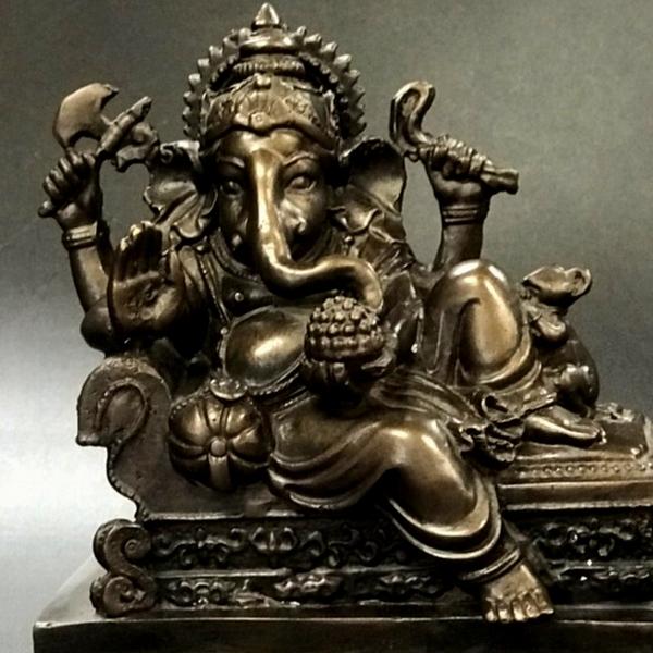 ガネーシャ像 富と商売と学問の神様/ヒンドゥー教の神様/【H14cm】