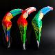 オオハシ木彫り/木彫り スタンド型/南国鳥【H23cm】【3個セット】
