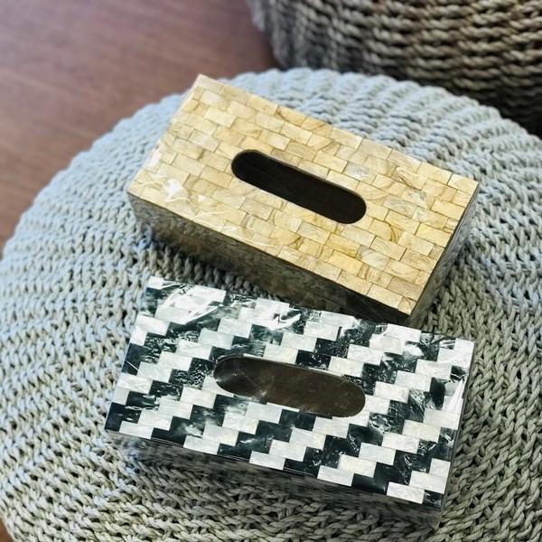 ティッシュケース/カピス貝のティッシュケース/シェル雑貨/アジアンインテリア