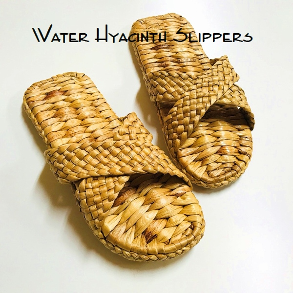 ウォーターヒヤシンスのスリッパ/素足に気持ちのいいスリッパ