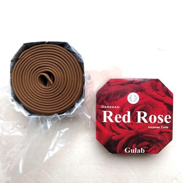 お香/渦巻き香 レッドローズ/RedRose/お香 ローズ