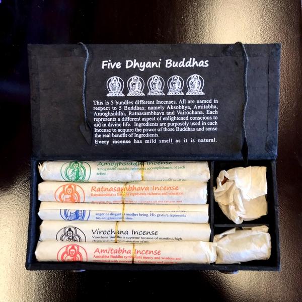 金剛界五仏 お香 Five Dhyani Buddhas ネパール香ギフトボックス/ネパール 五仏/ナチュラルインセンス/ネパール雑貨