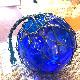 ガラスの浮き玉/バリ島のガラスの浮き玉 【ブルー・25cm】