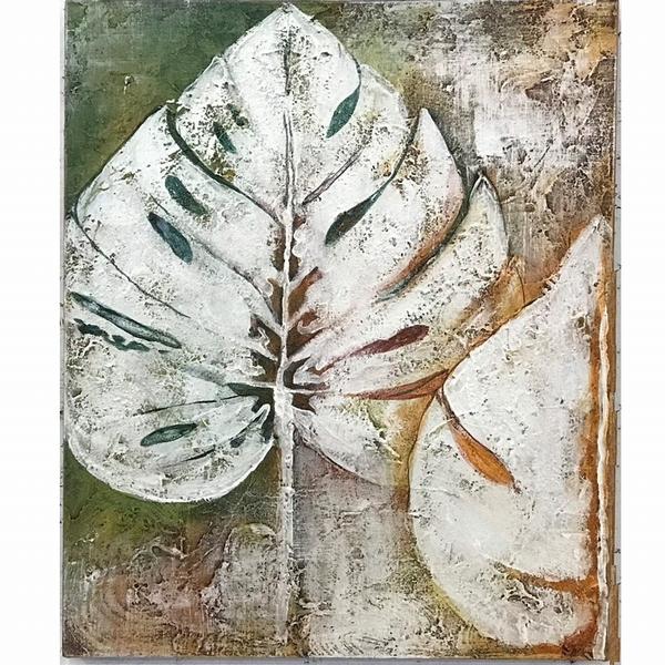 モンステラ絵画/Abstract Flower/モンステラ/アートパネル/ウォールデコレーション