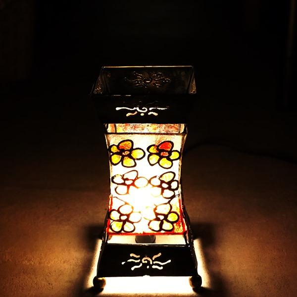 【35%FF】ステンドグラス風ランプ/アジアンインテリア/間接照明