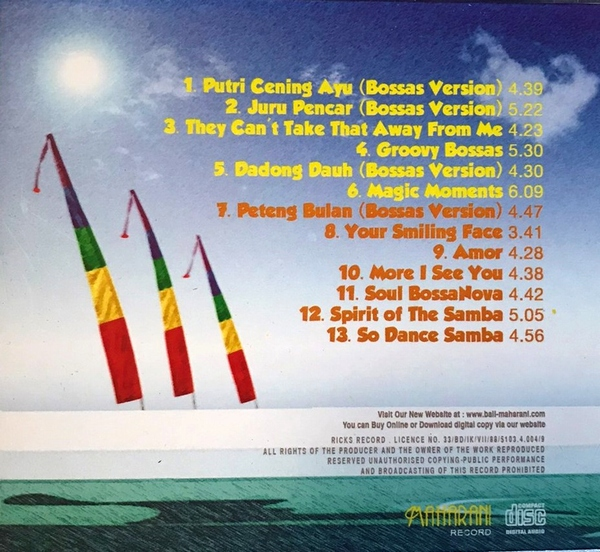 CD【BALI BossaNova】バリ・ボサノバ/ガムランミュージック/バリ島CD【レターパックOK】