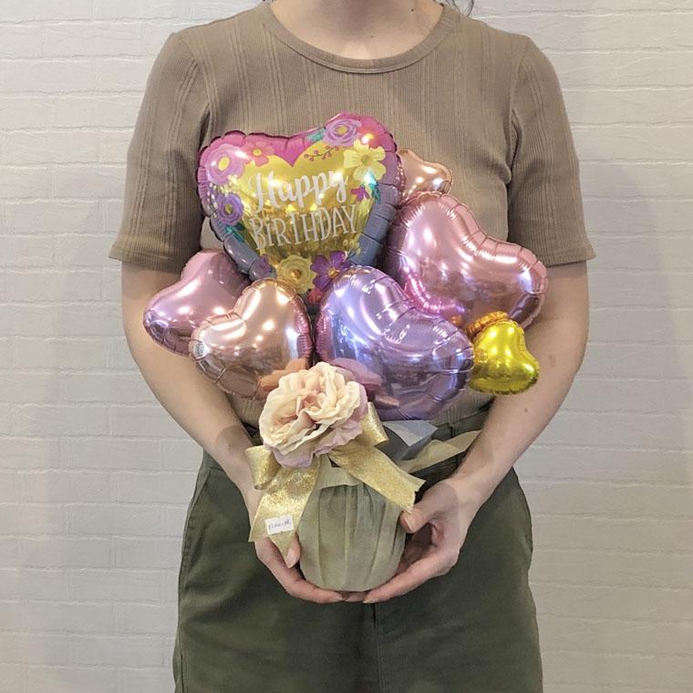 誕生日プレゼントに☆ハッピーバースデー!可愛いフラワーハート