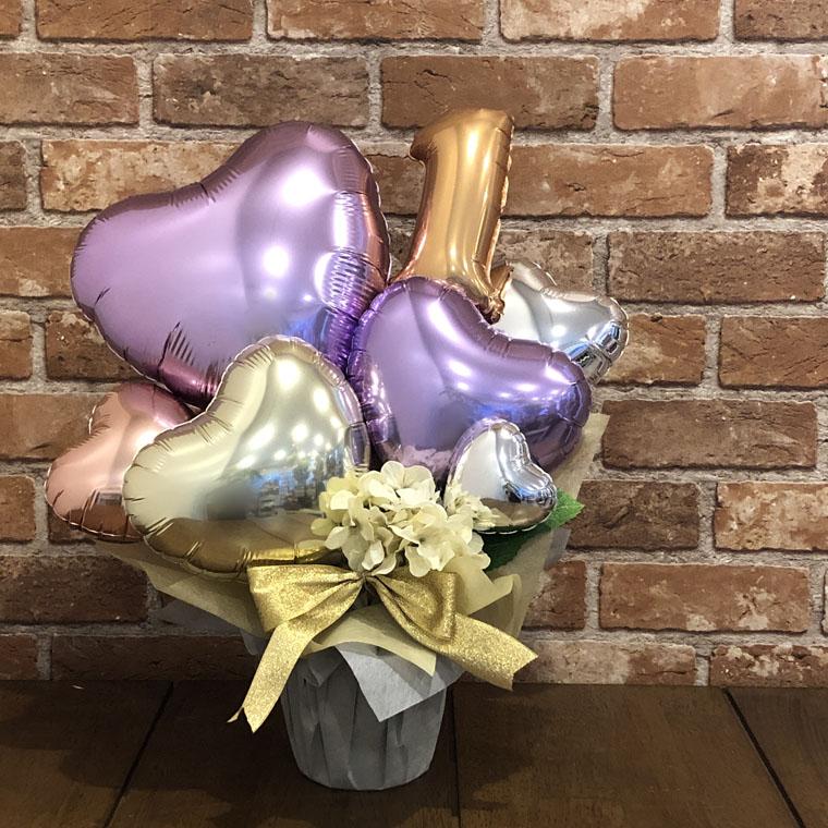 お誕生日や周年のお祝いに☆お好きなナンバーバルーンを入れて記念日のプレゼントにぴったりな置き型バルーンギフト