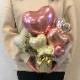 置き型バルーンアレンジ 開店・周年・お誕生日祝いなどにも☆ ナチュラルピンク