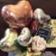 誕生日などのお祝いに 置き型バルーンギフト ブラウンハート