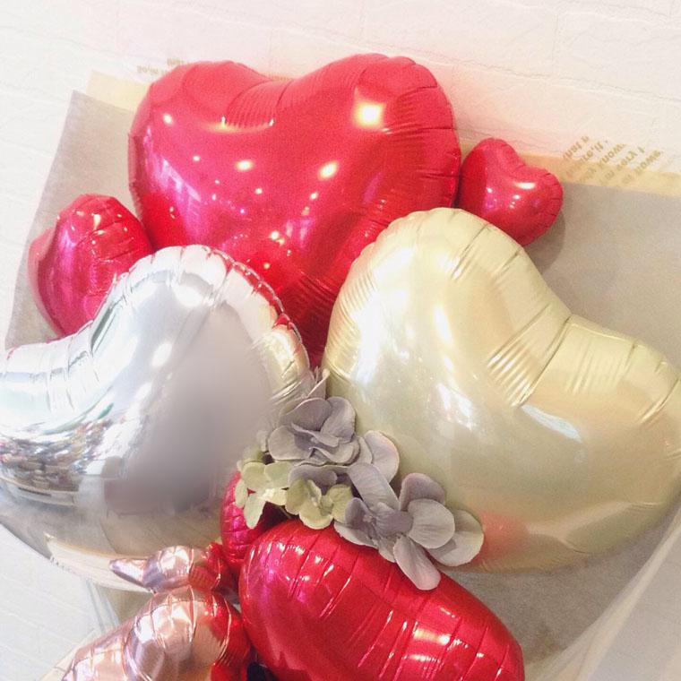 発表会や送別・卒業式などに! 赤いバルーンで豪華なバルーンブーケ