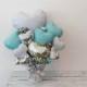 開店祝いや周年祝いに豪華な置き型バルーンギフト ティファニーブルー