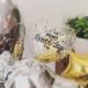 シンプルでおしゃれな雰囲気の誕生日用バルーンギフト!コンフェッティ入りキラキラクリアバルーン