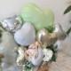 開店祝いや周年祝いなどに☆ グリーンが爽やかなお洒落な置き型バルーンギフト