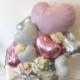 開店祝いや周年祝い・お誕生日のプレゼントにも☆ ミルキーピンクが可愛いバスケットに入った置き型バルーンギフト