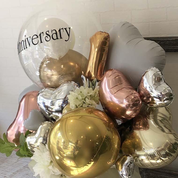 お好きな数字・メッセージが入れられる☆ 開店・周年・お誕生日の贈り物にも! Anniversaryゴールド