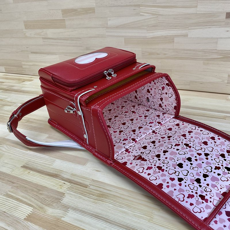バンビーニ ファンタジー 牛革 赤/ピンク