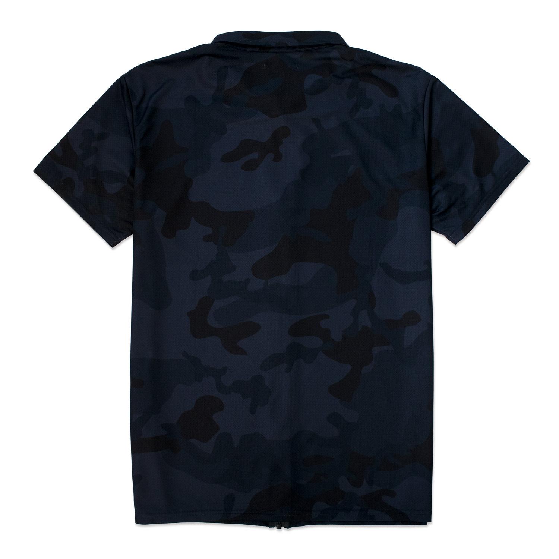 COYG フルジップ ドライカモ ポロシャツ