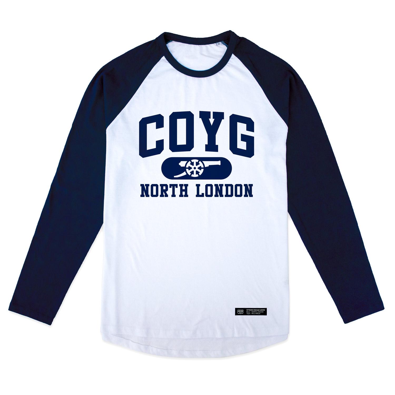 COYG NORTH LONDON ラグランロングスリーブTシャツ