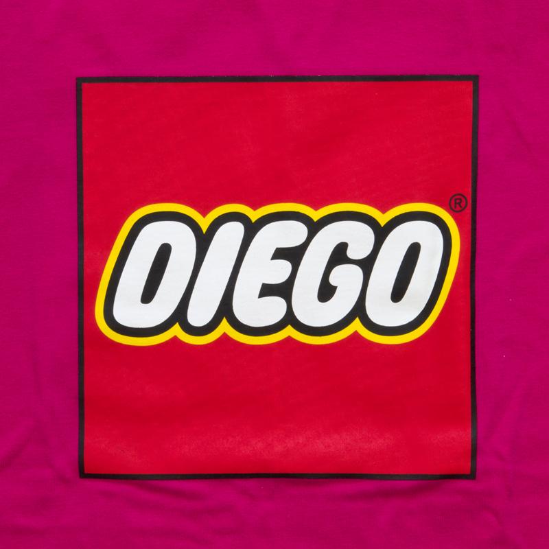 DIEGO LEGO風ロゴ ディエゴ・フォルラン Tシャツ