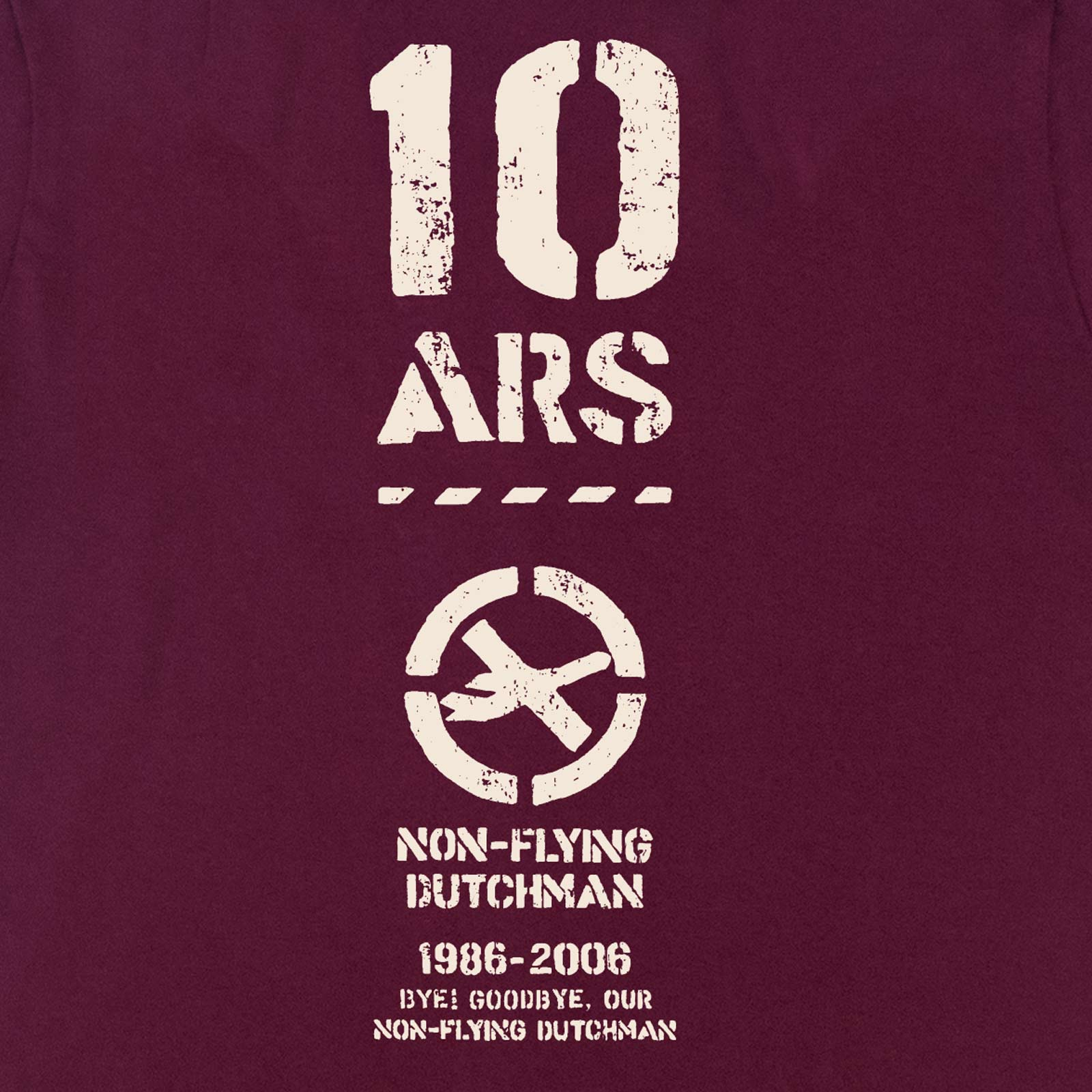 Goodbye Non-Flying Dutchman ベルカンプ引退記念Tシャツ 復刻モデル